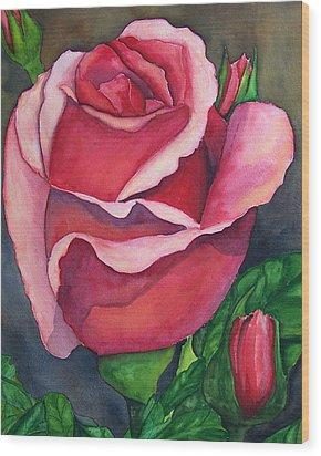 Red Red Rose Wood Print by Robert Thomaston