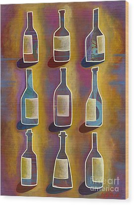 Red Red Wine Wood Print by Carla Bank