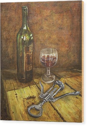 Red Red Wine Wood Print