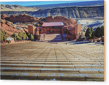 Red Rock Amphitheater Wood Print by Barry Jones