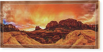 Wood Print featuring the photograph Red Rock Blaze by ABeautifulSky Photography