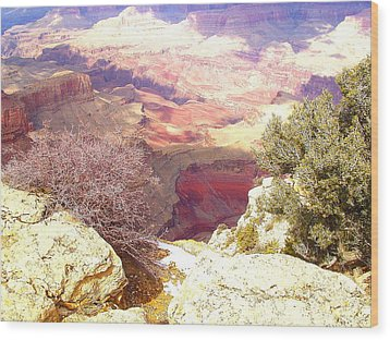 Red Rock Wood Print by Marna Edwards Flavell
