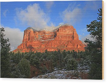 Red Rock Morning Wood Print