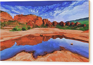 Wood Print featuring the photograph Red Rock Reflections by ABeautifulSky Photography