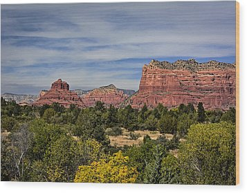 Red Rock Scenic Drive Wood Print by John Gilbert