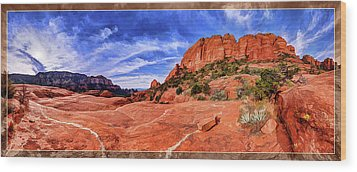 Red Rock Spirit 2 Wood Print by ABeautifulSky Photography