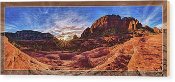 Red Rock Spirit Wood Print by ABeautifulSky Photography