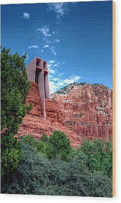 Red Rock Spirituality Wood Print by Anthony Citro