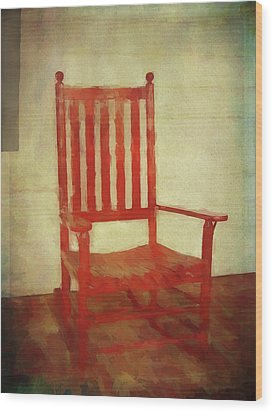 Wood Print featuring the photograph Red Rocker by Bellesouth Studio