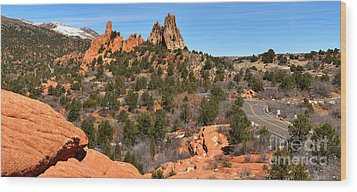 Wood Print featuring the photograph Red Rocks At High Point by Adam Jewell