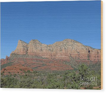 Red Rocks Majesty Wood Print
