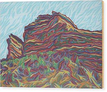 Red Rocks Wood Print by Robert SORENSEN