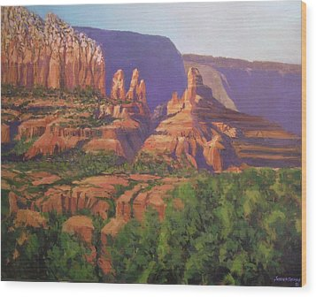 Red Rocks Sedona Wood Print