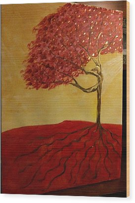 Red Rooted Tree Dancer Wood Print by Nora Sorensen