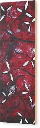 Red Roses 1 By Madart Wood Print by Megan Duncanson