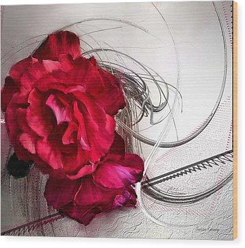 Red Roses Wood Print