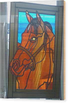 Red Rum Wood Print by Robin Jeffcoate
