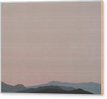 Red San Jacintos Wood Print