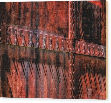 Wood Print featuring the photograph Red Shadows by James Barber