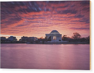 Wood Print featuring the photograph Red Skies At Dawn by Edward Kreis