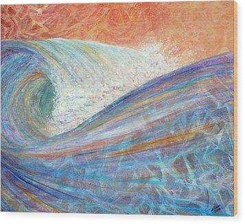 Red Skies In Morning Wood Print by Arlissa Vaughn