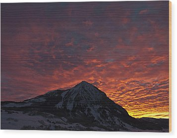 Red Sky At Morning Wood Print by Dusty Demerson