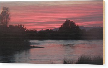 Wood Print featuring the photograph Red Sky At Night by Antonia Citrino