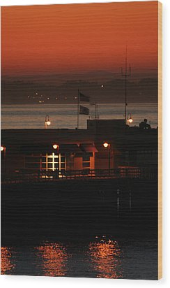 Red Sky In The Morn Wood Print by Holly Ethan
