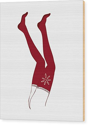 Red Socks Wood Print by Frank Tschakert