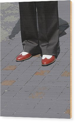 Red Spats Wood Print