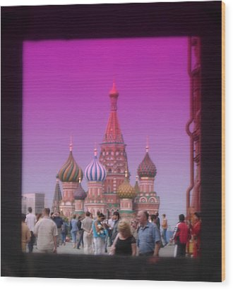 Red Square Peak Wood Print by Funkpix Photo Hunter