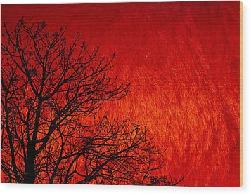 Red Storm Wood Print