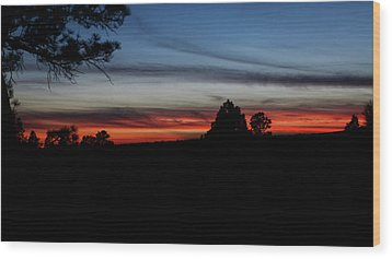 Red Sunset Strip Wood Print