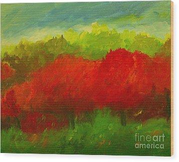 Red Sweet Cherry Trees Wood Print by Julie Lueders