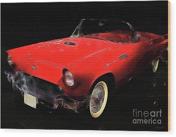 Red Thunder Wood Print by Wingsdomain Art and Photography