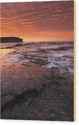 Red Tides Wood Print by Mike  Dawson