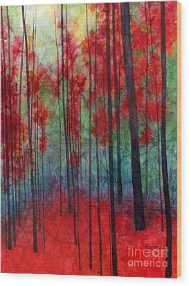 Wood Print featuring the painting Red Velvet by Hailey E Herrera