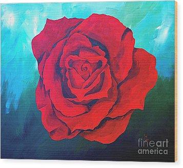 Red Velvet Wood Print by Herschel Fall