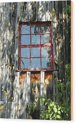 Wood Print featuring the photograph The Red Window by Sandi OReilly