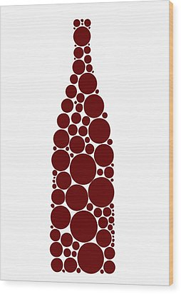 Red Wine Bottle Wood Print by Frank Tschakert