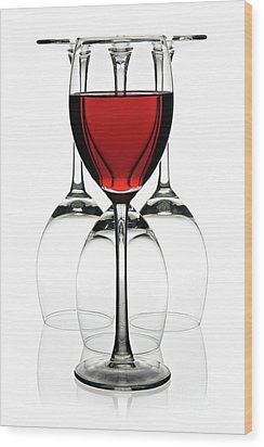 Red Wine Wood Print by Pics For Merch