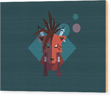 Red Xiii Wood Print by Michael Myers