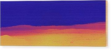 Red Yellow Blue Wood Print by Gilbert Artiaga