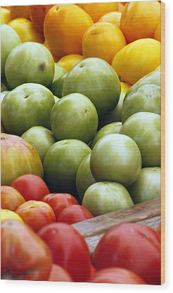 Red Yellow Green Wood Print by Alan Todd
