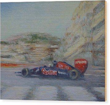 Redbull Racing Car Monaco  Wood Print