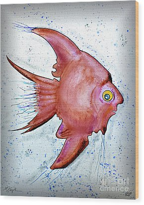 Wood Print featuring the mixed media Redfish by Walt Foegelle