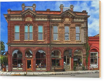 Redmens Hall - Jacksonville Oregon Wood Print by James Eddy