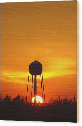 Redneck Water Heater For Whole Town Wood Print by J R Seymour