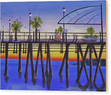 Redondo Beach Pier Wood Print by Jamie Frier