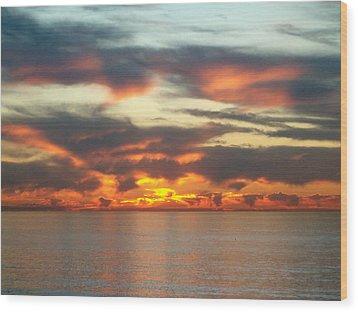 Redondo Beach Sunset Wood Print by Mark Barclay